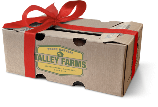 Talley Farms Box wrapped in a bow