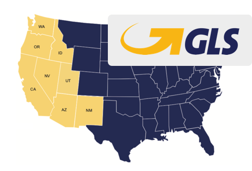 GLS shipping map